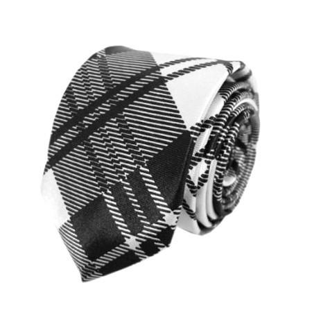 Krawatte Tartan weiß