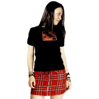 Mini Shark red Tartan