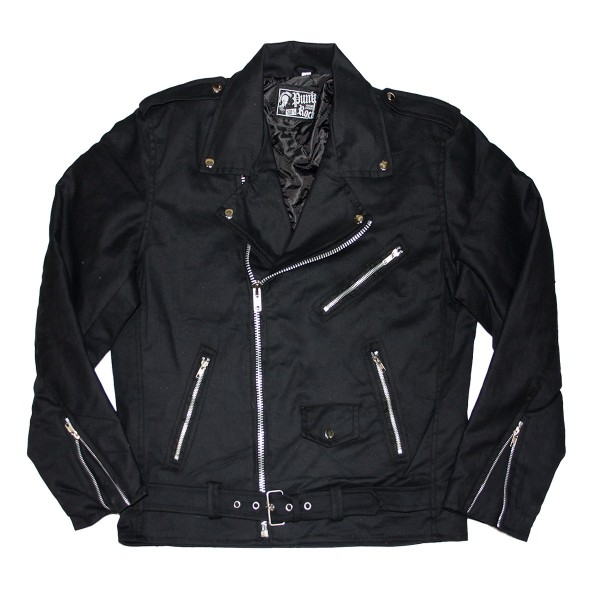 Denim Jacket Streetpunk Black for Men