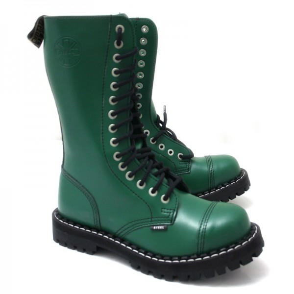 Steel Boots 15-Loch, Pure Green