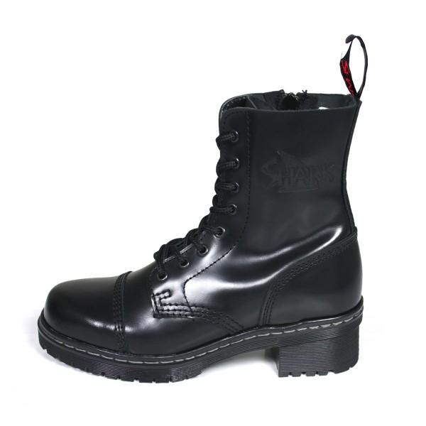 TANK Boots for Girls 8 Loch schwarz