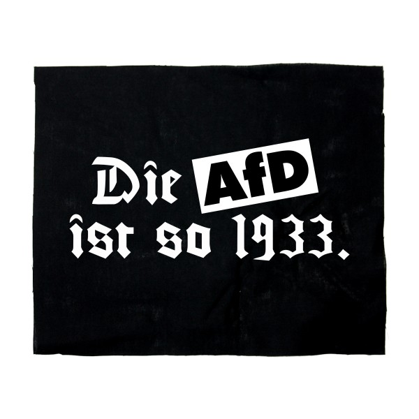 Backpatch Die AfD ist so 1933