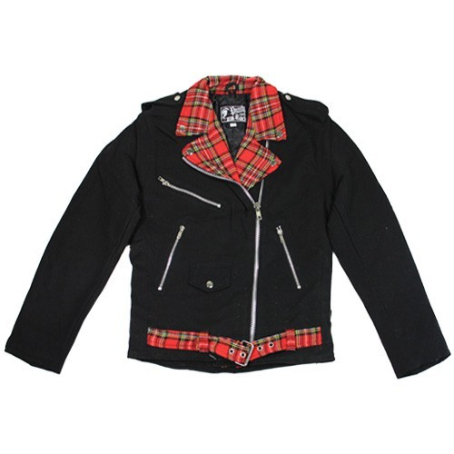 Denim Jacket Streetpunk Tartan (Men)
