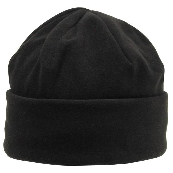 Rollmütze Fleece, schwarz, Thinsulatefütterung