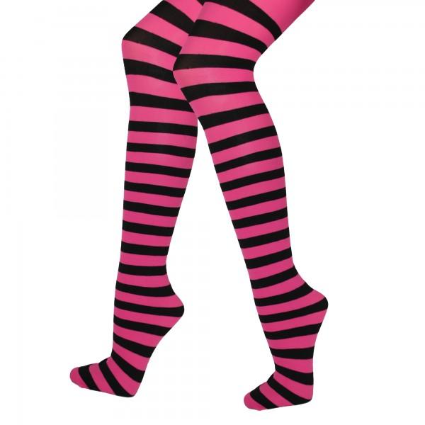 Strumpfhose Pink/Black