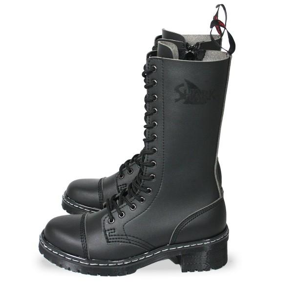 Veggie TANK Boots for Girls 14 Loch schwarz