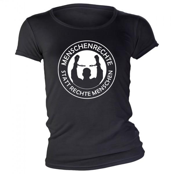Menschenrechte Girlie-Shirt schwarz