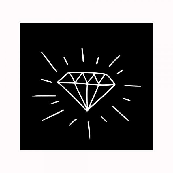 Diamant 2 Aufnäher
