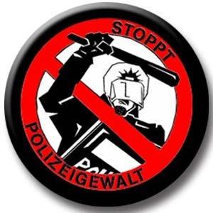Stoppt Polizeigewalt Button