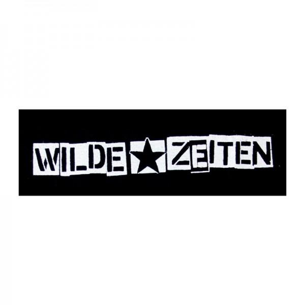 Wilde Zeiten Logo quer Aufnäher