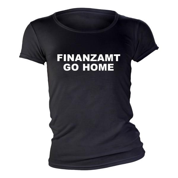 Finanzamt go home Girlie-Shirt schwarz