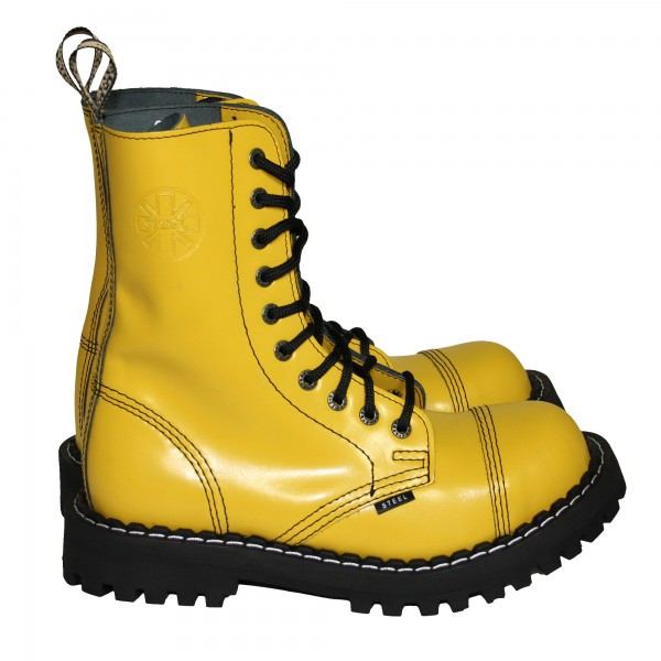 Steel Boots 10-Loch, Pure Yellow