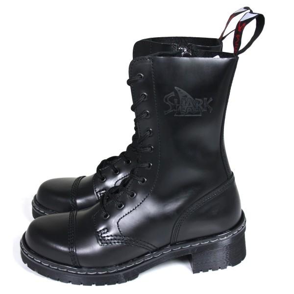 TANK Boots for Girls 10 Loch schwarz