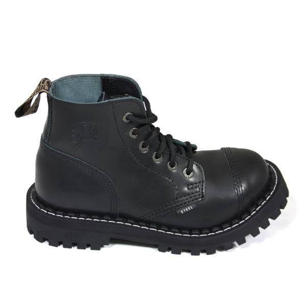 Steel Boots 6-loch schwarz