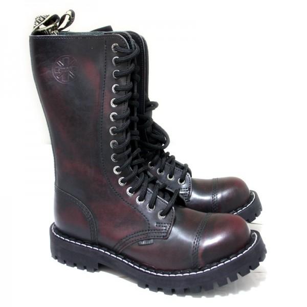 Steel Boots 15-Loch burgund