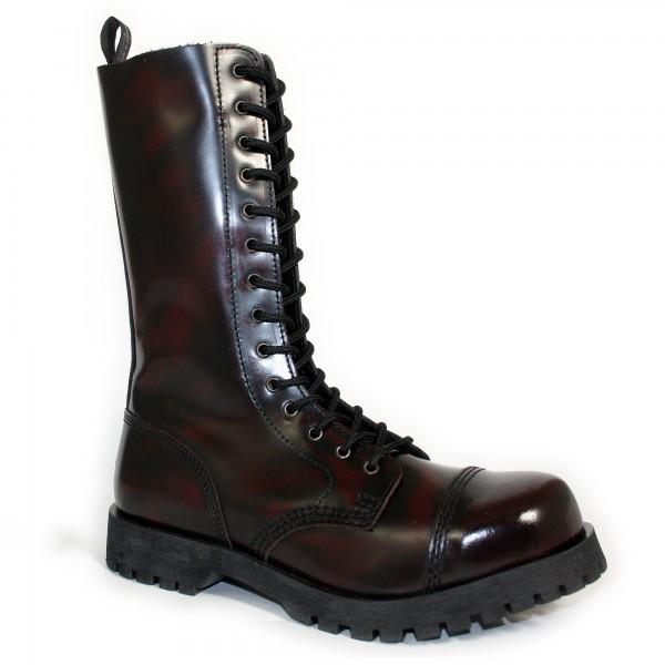 Boots & Braces 14-Loch burgund