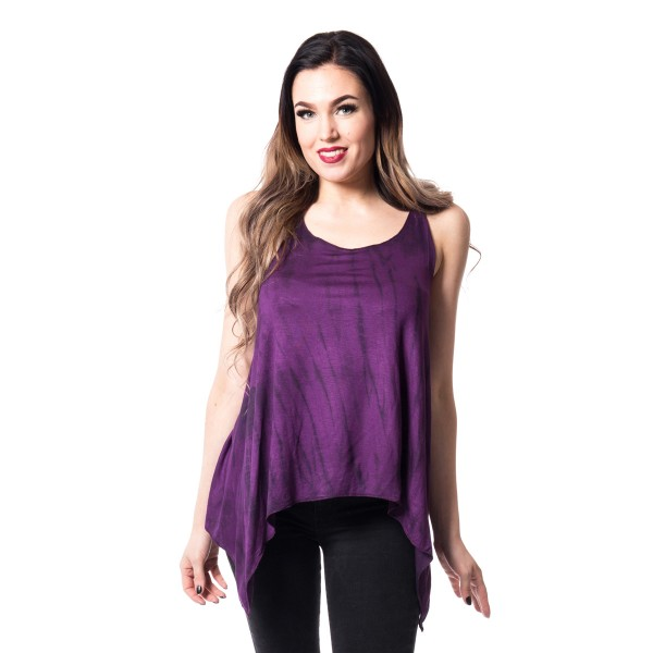 Tye Knot Top Purple Stripe