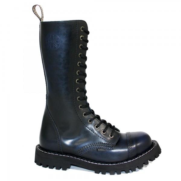 Steel Boots 15-Loch blue rub-off