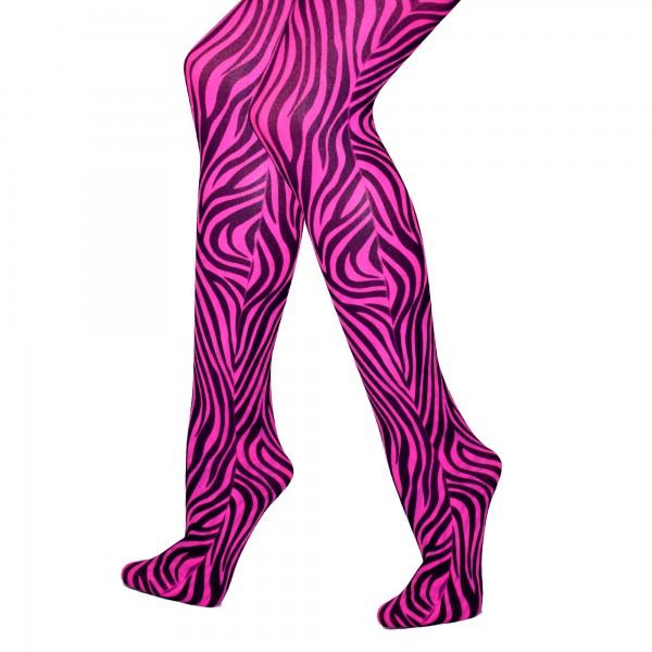 Strumpfhose Zebra Pink