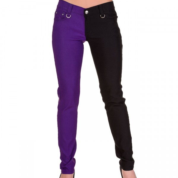 Banned Night after Night Skinny black & purple
