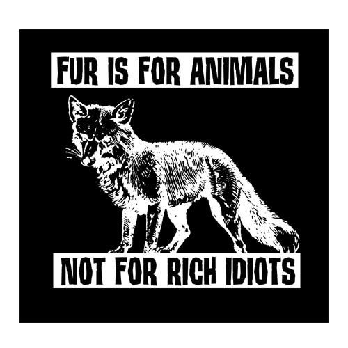 Fur is for Animals Aufnäher