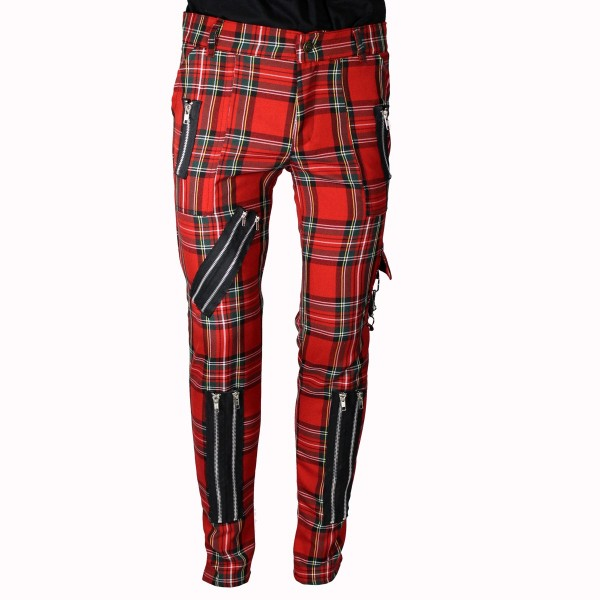 Chaos Punk Red Tartan Punk Trousers
