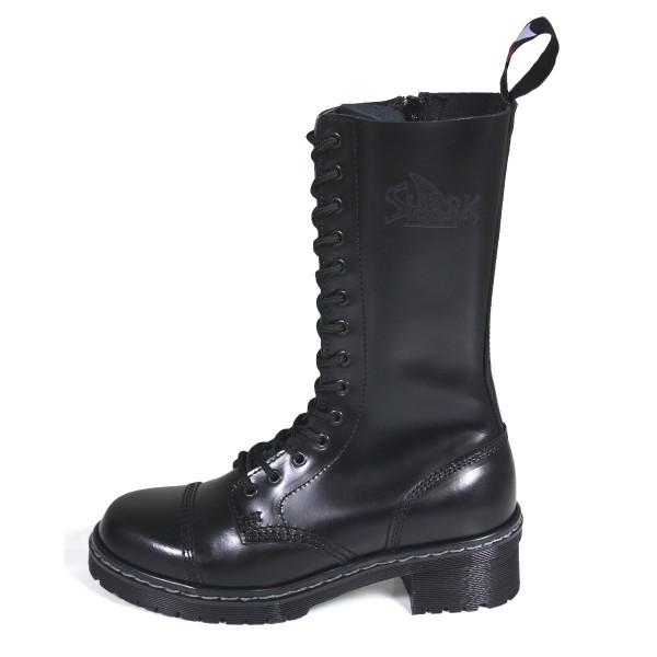 TANK Boots for Girls 14 Loch schwarz