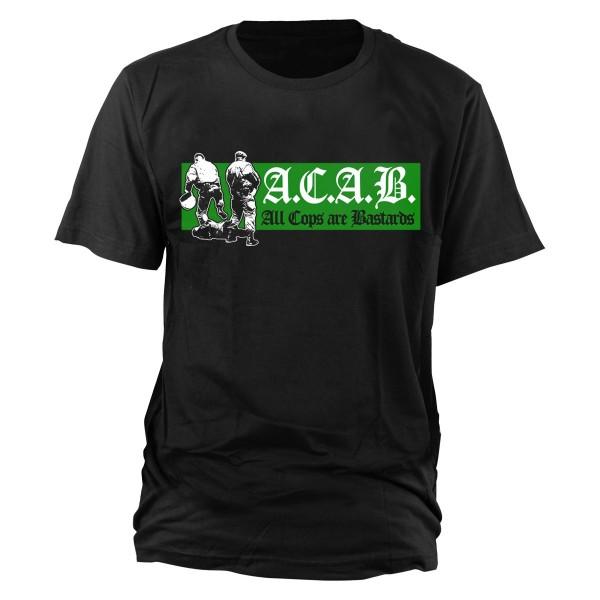 A.C.A.B. T-Shirt (green/white)