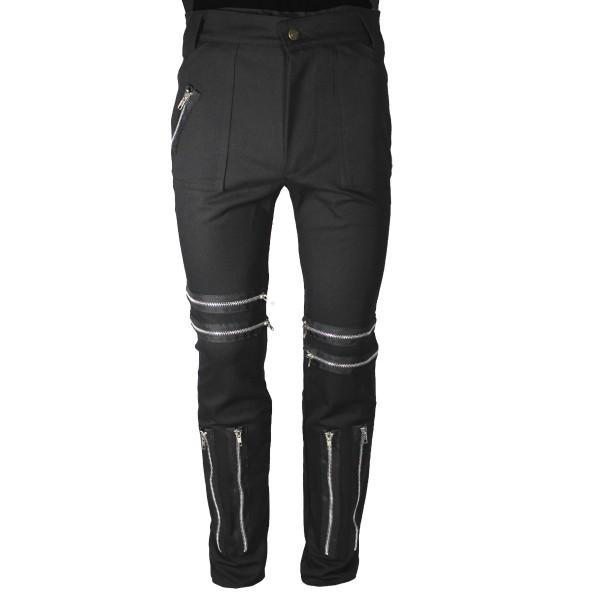 Classic Black Shark Punk Trousers
