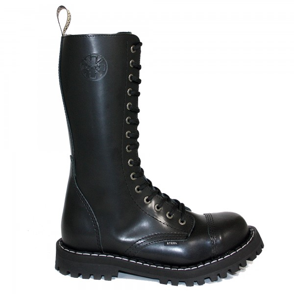 Steel Boots 15-Loch schwarz