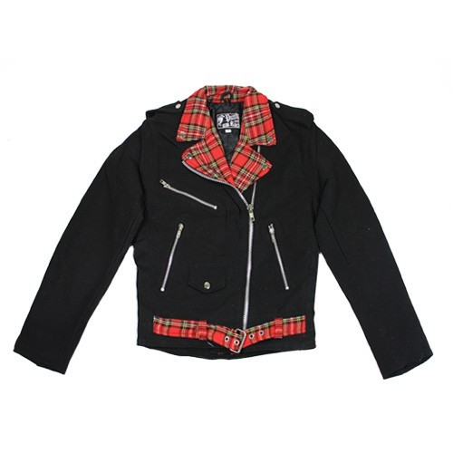 Denim Jacket Streetpunk Tartan (Girls)
