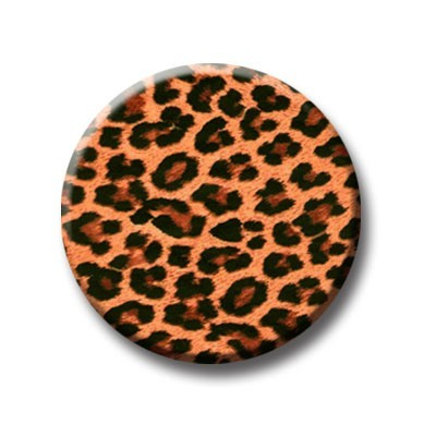 Leopard natur Button