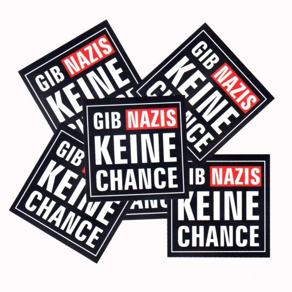 Gib Nazis keine Chance Aufkleber 10 Stück