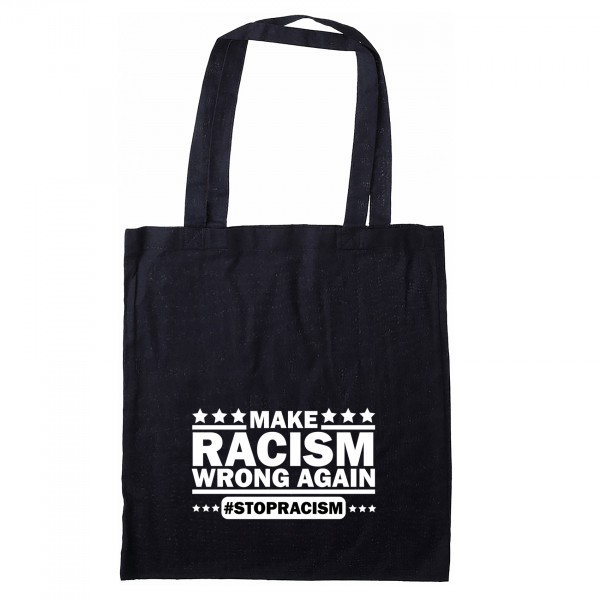 Stofftasche  Make Racism wrong again