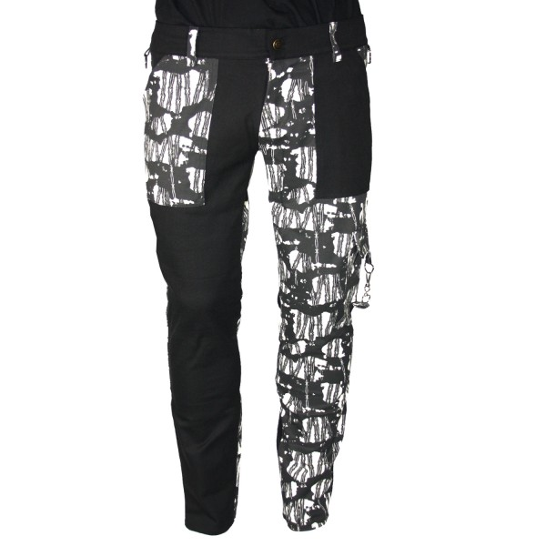 Pure Shark Barbwire & Black Punk Trousers