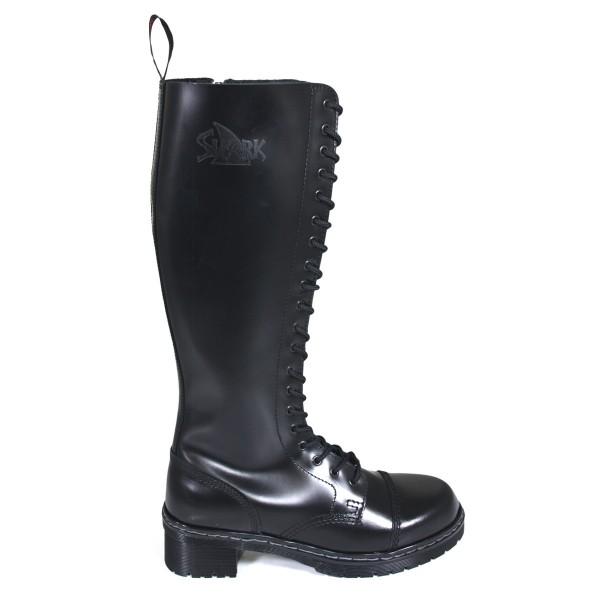 TANK Boots for Girls 20 Loch schwarz