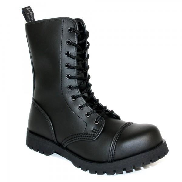 Vegetarian Boots & Braces 10 Loch schwarz Stahlkappe