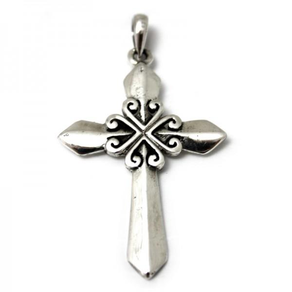 Silber Anhänger Kreuz 2
