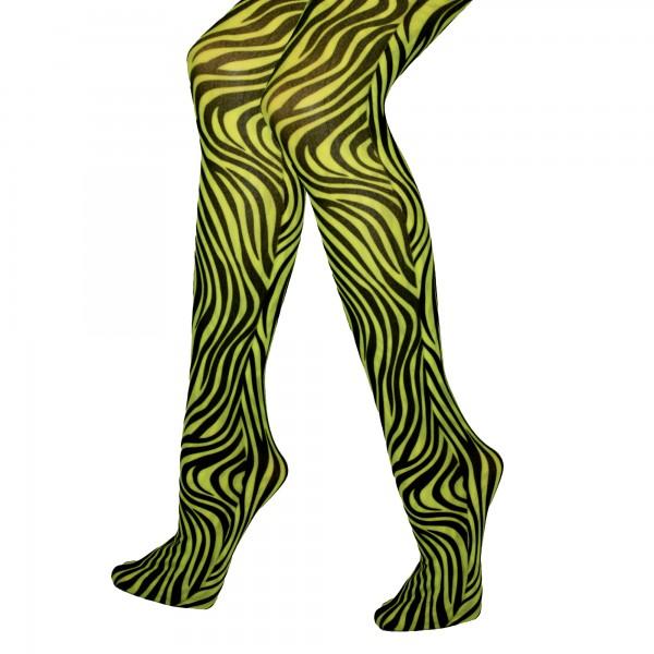 Strumpfhose Zebra grün