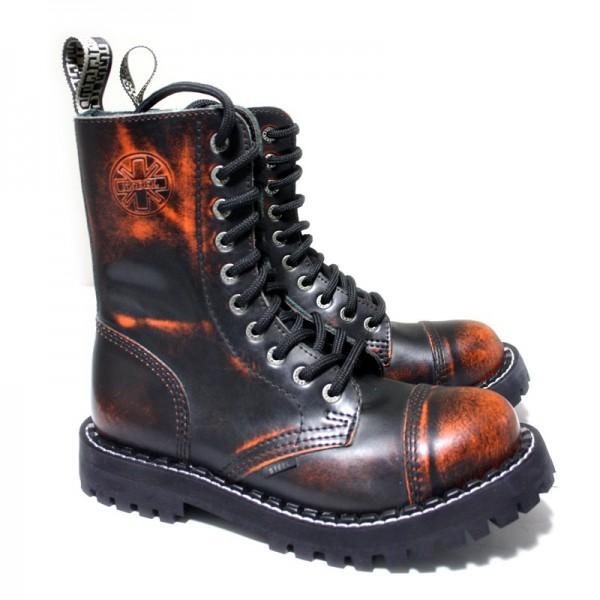Steel Boots 10 Loch orange rub-off