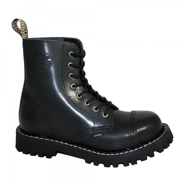 Steel Boots 8-loch schwarz