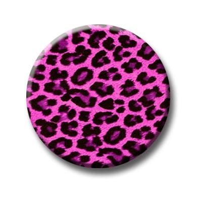 Leopard Pink Button