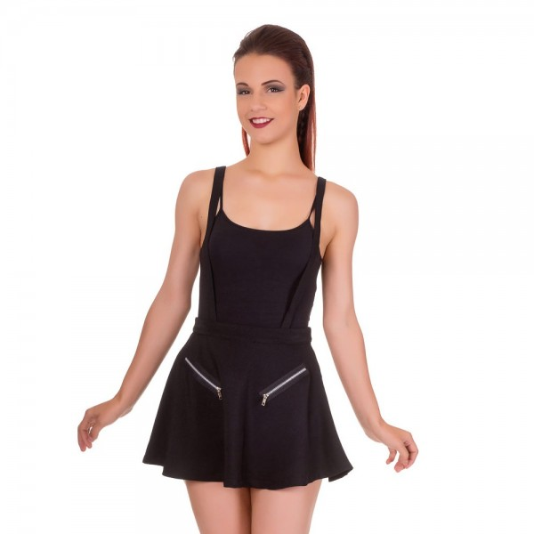 Highlife Pinafore Banned Skirt black