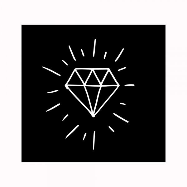 Diamant Aufnäher
