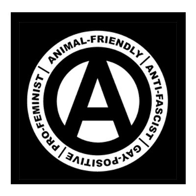 Animal-Friendly Anti-Fascist Aufnäher