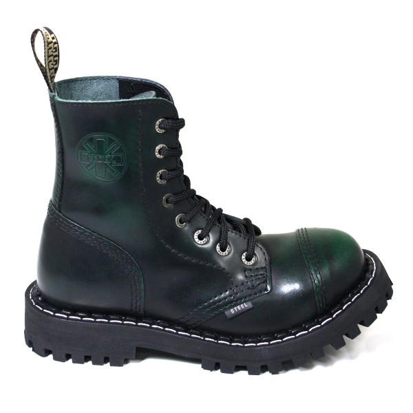 Steel Boots 8-loch green rub-off