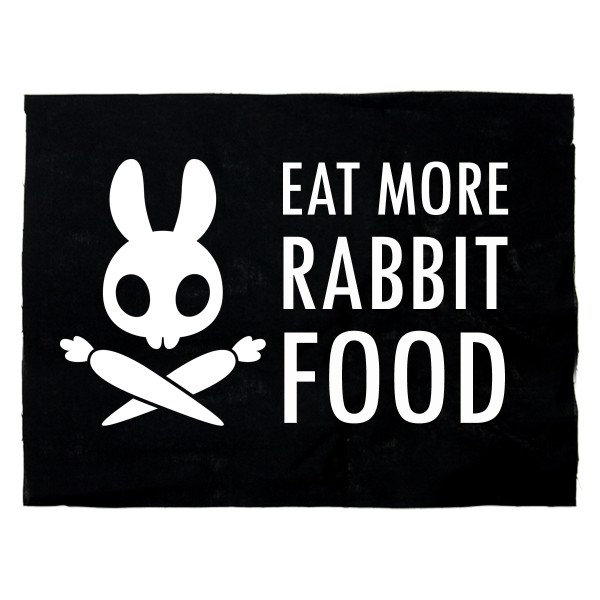EAT MORE RABBIT FOOD Aufnäher