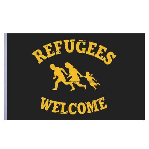 Refugees welcome Flagge