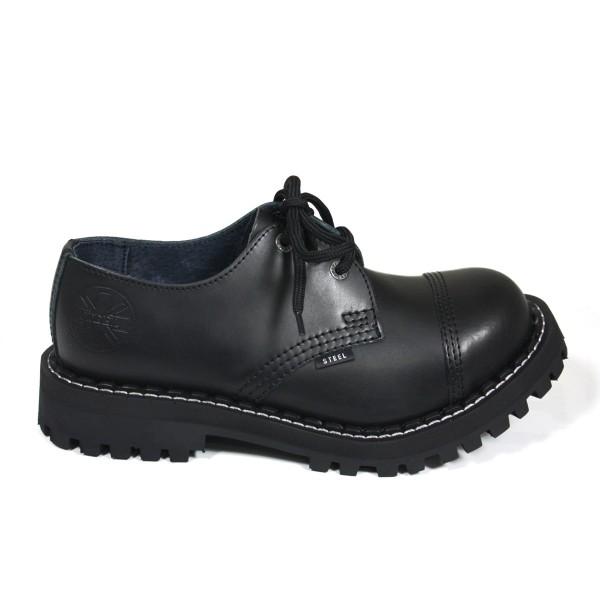 Steel Boots 3 Loch schwarz