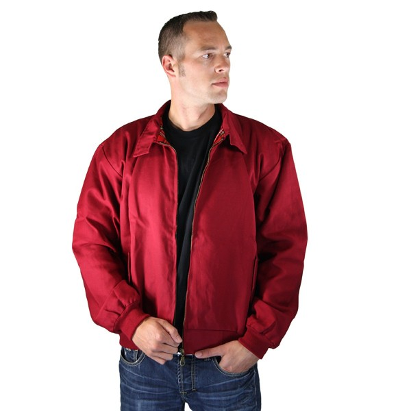 Harrington Jacke Sommer burgund